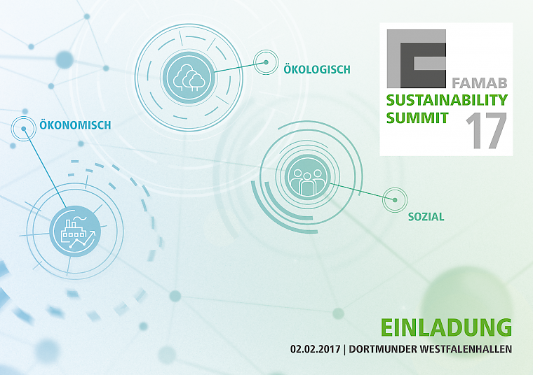 Key Visual des 1. FAMAB Sustainibility Summit im Februar 2017. Bild: FAMAB